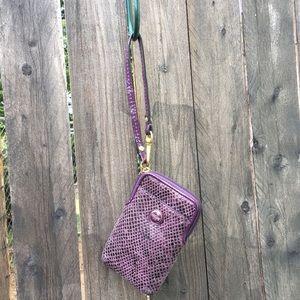 Small Purple Coach Wristlet